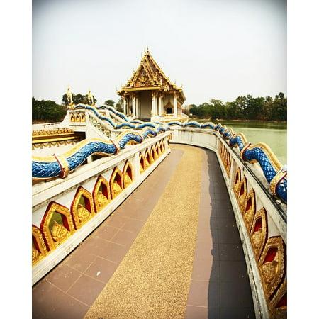 LAMINATED POSTER Travel Wat Oriental Decoration Craft Thailand Poster Print 24 x 36 (Oriental Decorations)