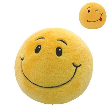 TY Beanie Ballz - SMILEY the Smile Face (Regular Size - 5 inch) Smile Face Toy