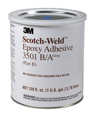 3M 3501 Epoxy Adhesive, Kit, 1 gal, Gray, PK2 by 3M