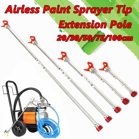Airless Paint Spray Gun Extension Pole For Titan Wagner Tip Sprayer 20/30/50/75/100cm (Titan Paint Sprayer Extension)