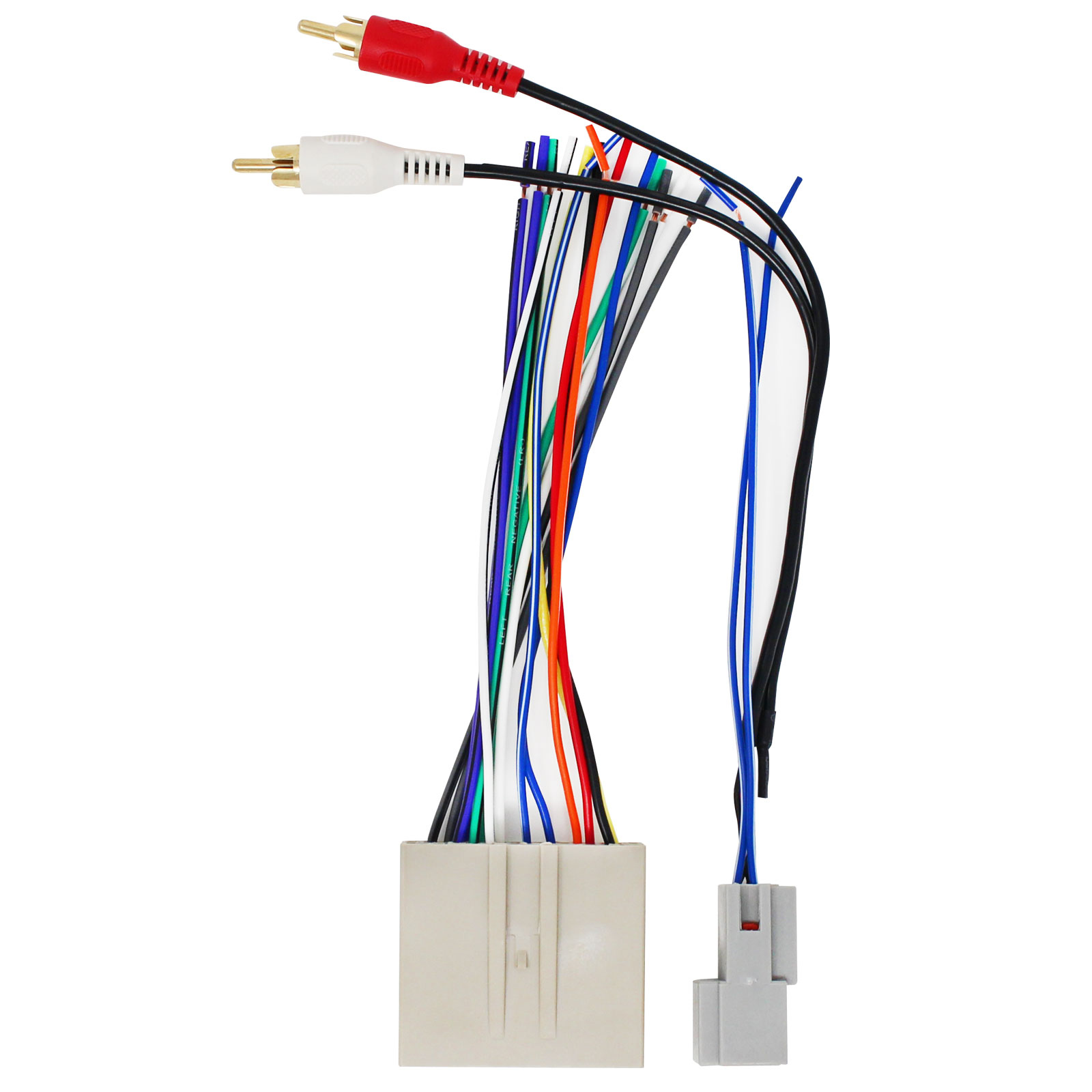 replacement radio wiring harness for 2005 ford five hundred limited sedan  4-door 3.0l - car stereo connector - walmart.com - walmart.com  walmart