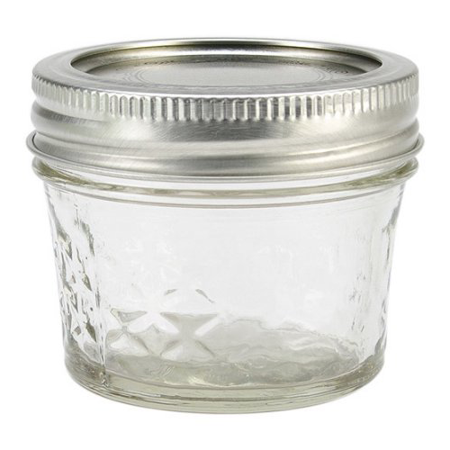 Ball Quilted Crystal Mason Jar w/Lid & Band, Regular Mouth, 4 Ounces, 12 Count (Oven Safe Mason Jars)