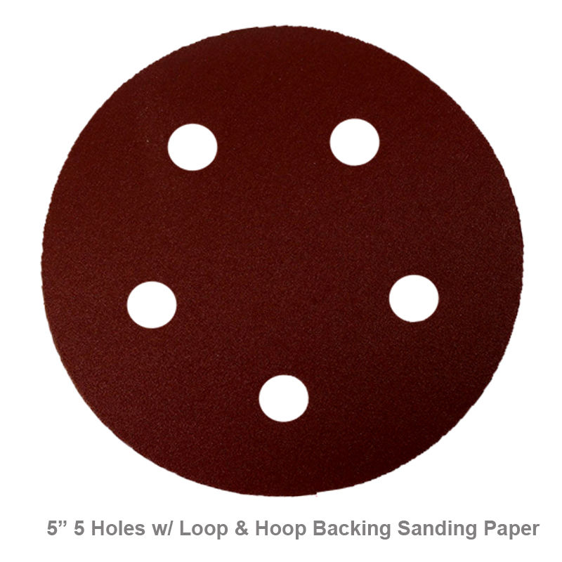 "MTP ® 5"" 5 Hole 30x (60/80/120/180/240/320) Grit Sandpaper Sand Disc Paper Random Orbit Hook and Loop Sander Sanding Sheet for Porter Cable 334 333 Holes 7335 7334 334 7335 7334 334 7335 7334 334"