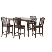 Onoway Dining Set Counter Height-Finish:Mahogany,Quantity:5 Piece