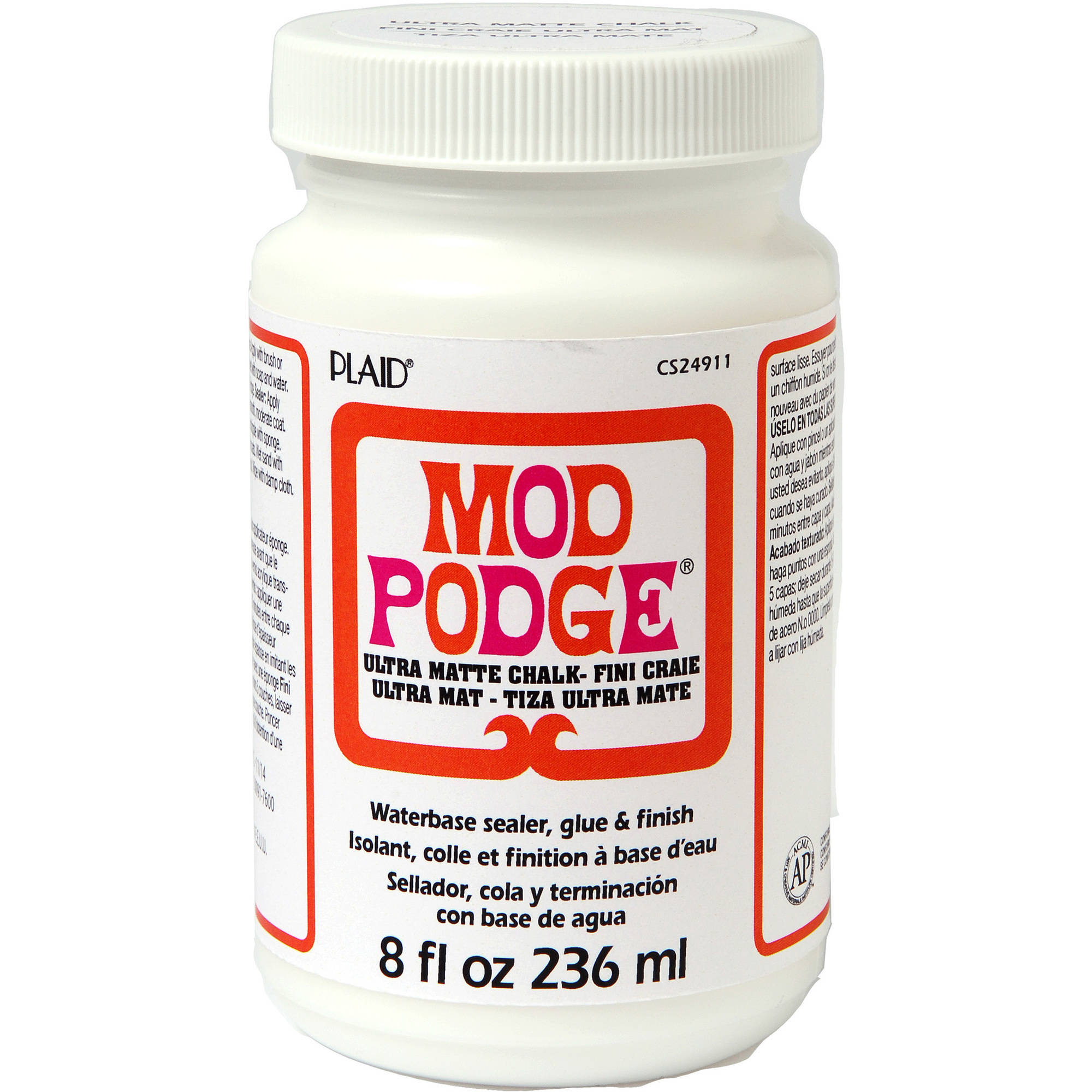 Mod   Podge Ultra Matte Chalk Finish, Glue, Sealer and Finish for Decoupage by   Plaid, 8 oz.