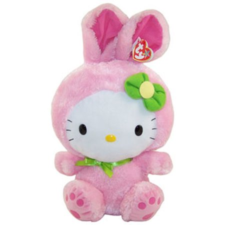 TY Beanie Buddy - HELLO KITTY (PINK BUNNY SUIT - 15 inch)