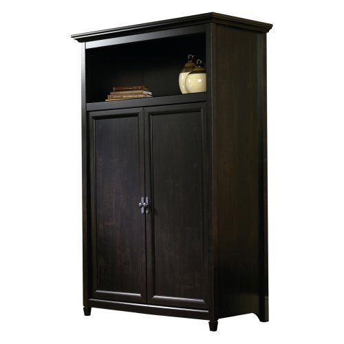 Sauder Edge Water Computer Armoire Estate Black Walmart Com