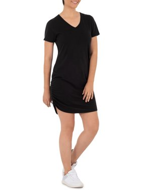 Athletic Works Women's Athleisure Short Sleeve T-Shirt Dress