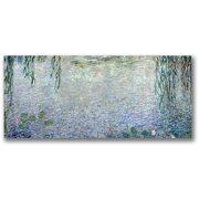 "Trademark Fine Art ""Waterlillies, Morning II"" Canvas Wall Art by Claude Monet"