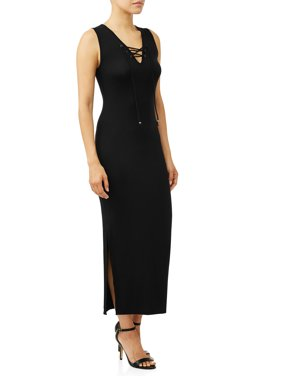 9890d5d956b Product Image Lace-up Neck Fitted Maxi Dress Women s