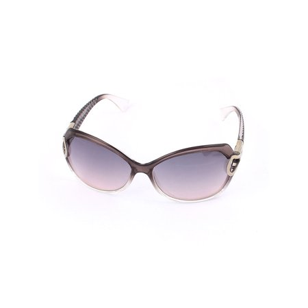 Woman Full Rim Light Gray Lens Eyeglasses Sunglasses - Eyeglasses With Lights