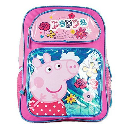 Peppa Pig Girls 16' School Book Backpack Bag - Pretty Flutter