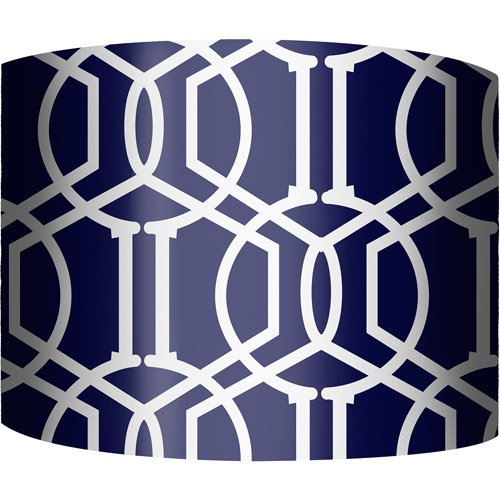 Lamp Shades At Walmart Amazing 60 Drum Lamp Shade Trellis Navy Walmart