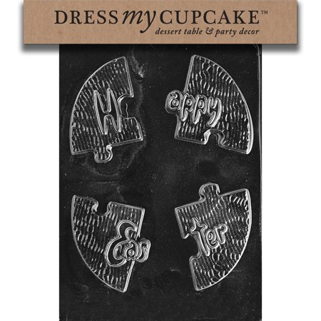 Dress My Cupcake DMCE148 Chocolate Candy Mold, Happy Easter Puzzle, Easter