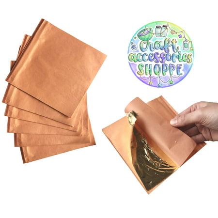 Gold Foil Sheets (Gold Leaf Sheets for Slime - 150 Imitation Gold Leaf Sheets, Foil Paper Sheets for Gilding, Gold Leafing, Crafting, Decorations, Furniture, 5.5