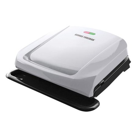 Spectrum Brands GRP1060P George Foreman 4-Serving Removable Plate & Panini Grill - Platinum - image 1 of 1