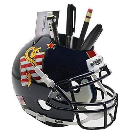 Athlon Sports CTBL-022326 Navy Midshipmen Navy NCAA Football Schutt Mini Helmet Desk Caddy