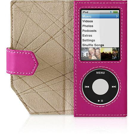 Belkin Leather Folio Case For Ipod Nano  4Th Gen    Case For Player   Leather   Pink   For Apple Ipod Nano  4G