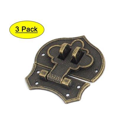 2pcs Bronze Tone Metal Antique Suitcase Jewelry Wood Box Case Hasp Latch Lock