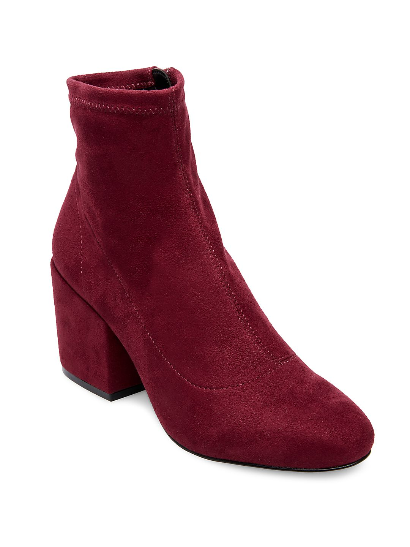 Helen Microsuede Sock Booties