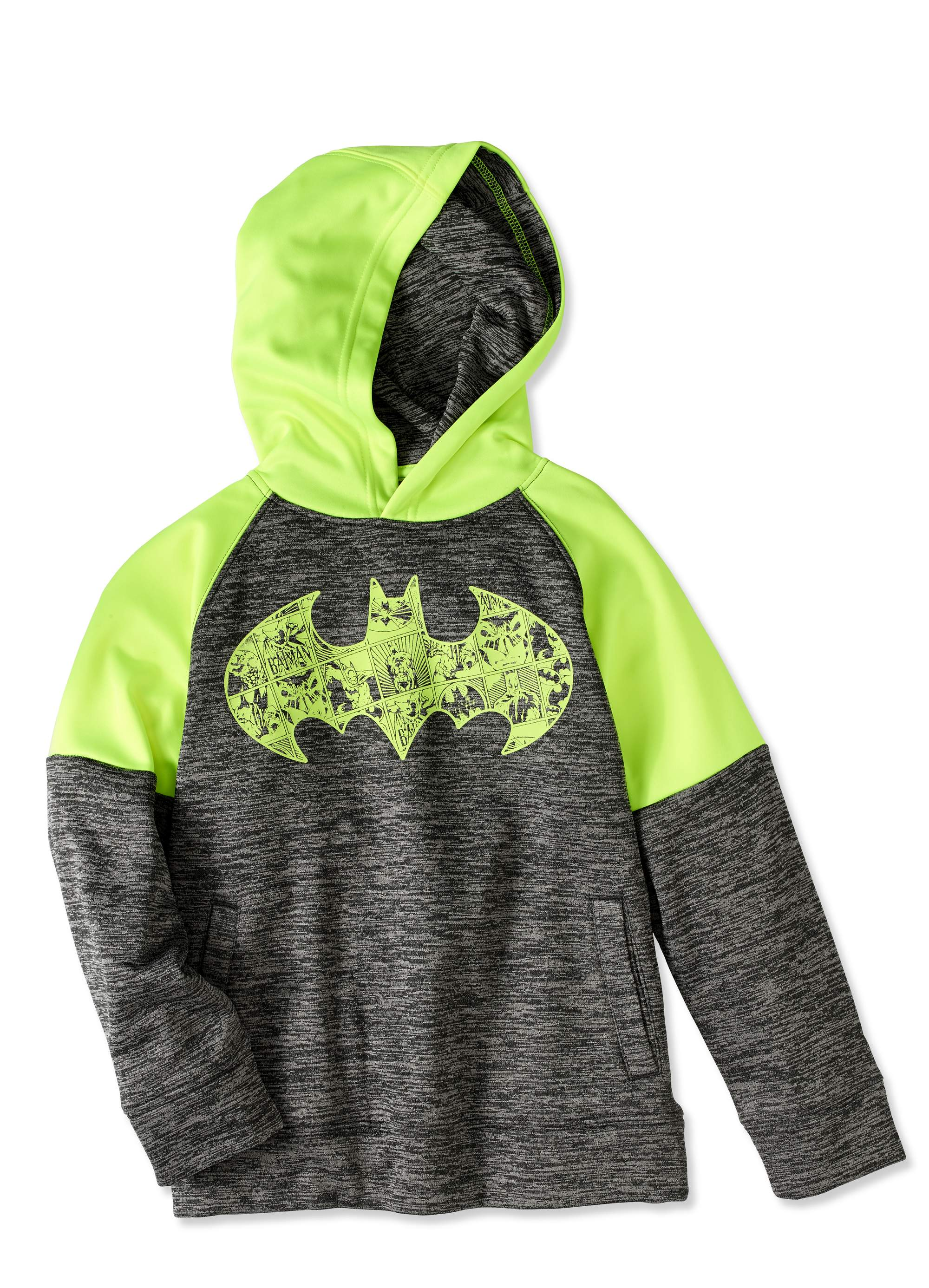 Batman Boys' Pieced Glow Fill Poly Fleece Hoodie by Generic