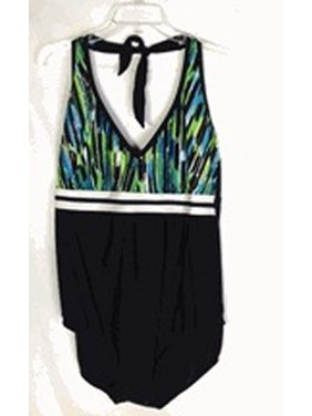 Delta Burke swimwear Halter v-neck Underwire bra swimsuit size 18w