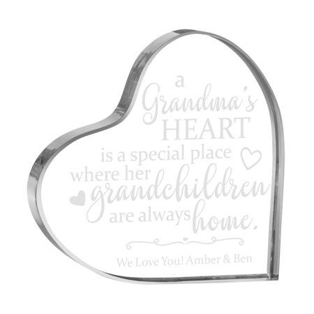 Her Special Place - Personalized Her Special Place Acrylic Heart - Multiple Children-Available for Grandma or Mother