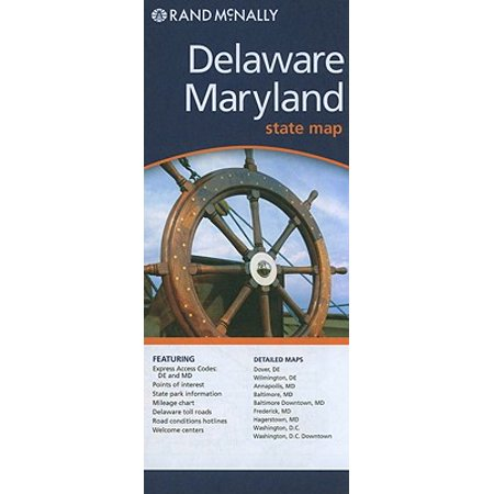 Rand mcnally delaware maryland state map: 9780528881145