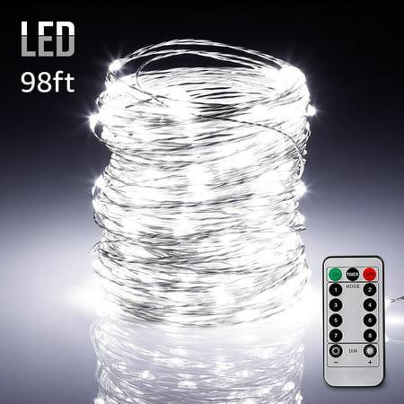 TORCHSTAR 98ft 300 LEDs Outdoor Fairy String Lights, LED String Lights for Bedroom, Wedding Garden, Patio, Festival, Party, Decor, Daylight for $<!---->
