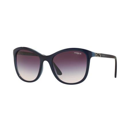 Vogue Blue Sunglasses (VOGUE Sunglasses VO 5033S 238836 Top Dark Blue/Blue Transparent 54MM)