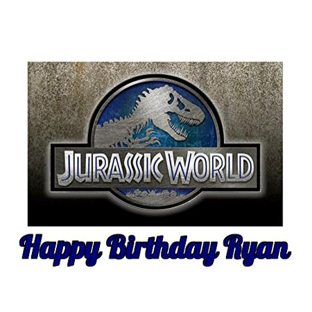 Jurassic World Grey Dinosaur Edible Frosting Image Cake Topper