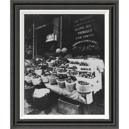 Global Gallery Paris  1908 1912   Produce Display  Rue Sainte Opportune By Eug  Ne Atget Framed Painting Print