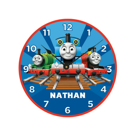 Time Clock Wall (Personalized Thomas & Friends Track Time Wall Clock )