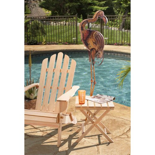 "Sunjoy 110309053 Large Metal Flamingo Hand Painted Garden Statue, 54.7"" by Garden Statues"