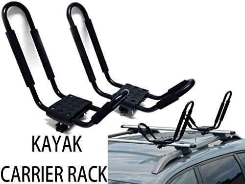 9sparts UNIVERSAL J SHAPE CROSS BAR KAYAK SNOWBOARD SKI SURFBOARD WAKEBOARD PADDLE BOARD RACK CARRIER CAR TRUCK SUV ROOF... by