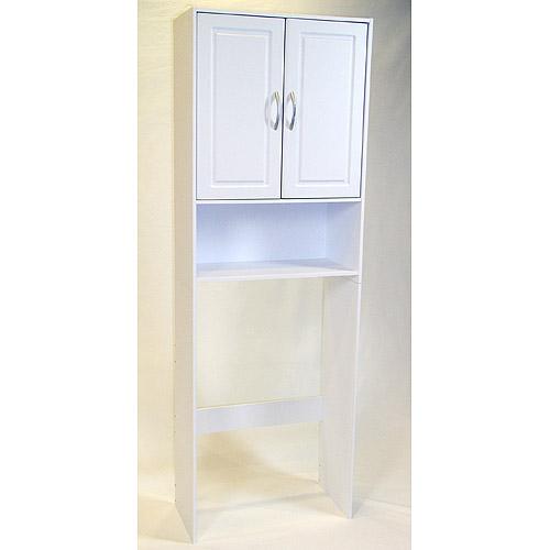 Deluxe Double Door Over the Toilet Spacesaver, White