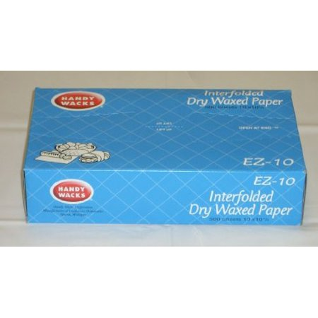 Handy Wacks EZ8C, 8x10-3/4-Inch Interfolded Medium Grade Dry Waxed Paper, 12x500-Piece Pack](Wack A Pack)