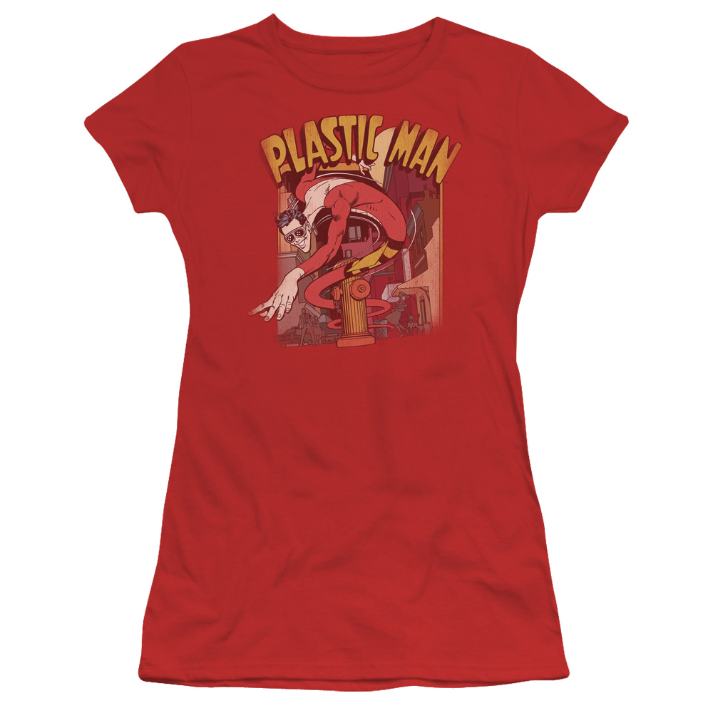 DC/PLASTIC MAN STREET - S/S JUNIOR SHEER - RED - XL