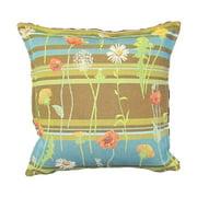 Corona Dcor Corona Decor French Woven Floral Design Cotton and Wool Decorative Throw Pillow