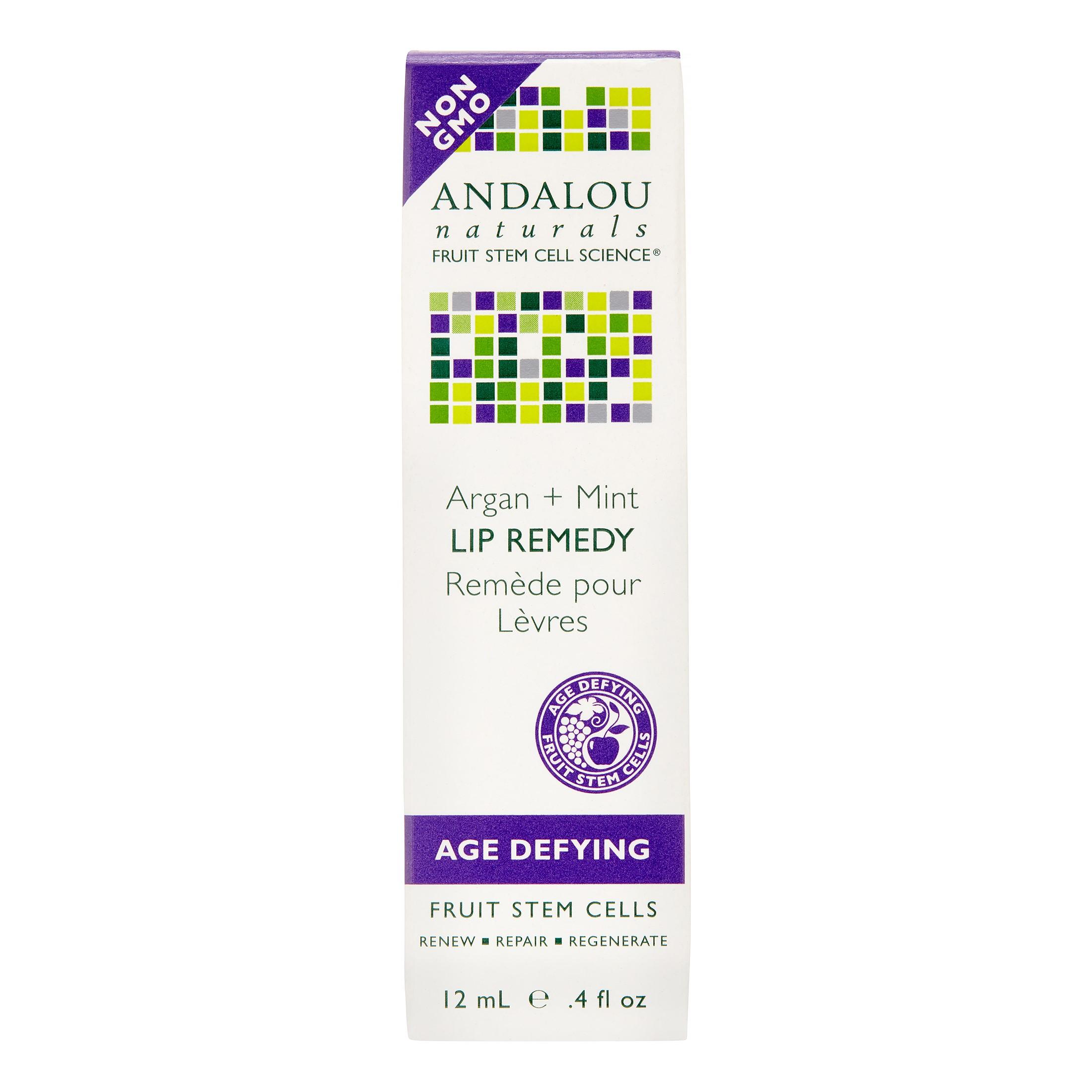 Andalou Naturals Age Defying Lip Remedy, Argan + Mint, 0.4 Oz