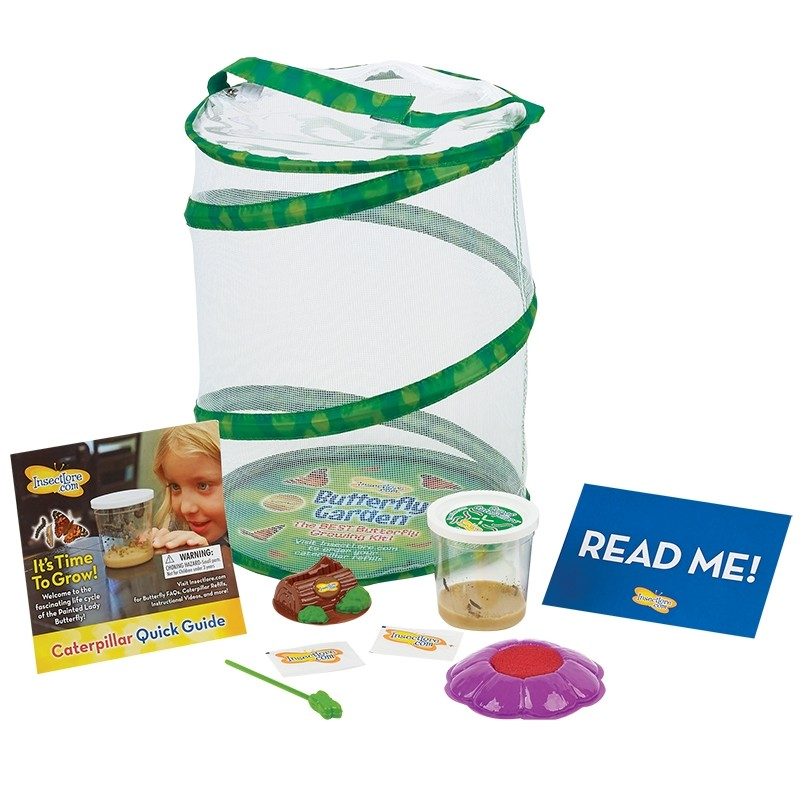 Insect Lore Butterfly Garden with Live Caterpillars and Feeding Kit by Insect Lore