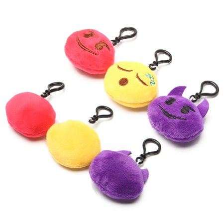 34Pack Emoji Keychain, Emoji Party Favors Mini and Cute Plush Pillows, Emoji Party Supplies for Kids Christmas, Birthday, Classroom Rewards, 9x6.4cm - Party Supplies For Kids