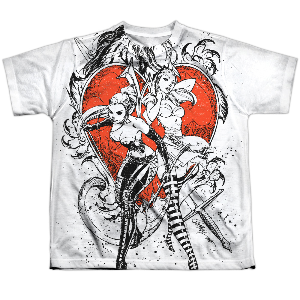 Zenescope Bw Heart Big Boys Sublimation Shirt