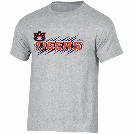 Youth Russell Athletic Gray Auburn Tigers Puff Ink Crewneck T-Shirt