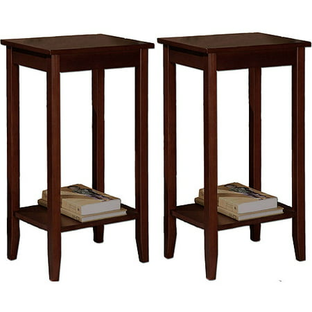 Rosewood Furniture - Rosewood Coffee Brown Tall End Tables - Value Bundle