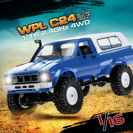 4wd Rtr Truck - WPL C24 1/16 RC Car Crawler Off-Road With Headlight 4WD Pick-up Truck Gift for Kids RTR