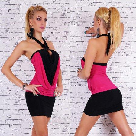 Women Party Sexy Slim Hanging Neck Strap Dress Night Club Sleeveless Dress Hot/S