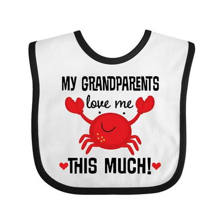 My Grandparents Love Me Gift Baby Bib