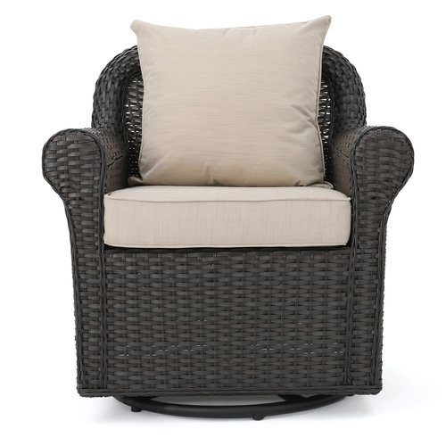 Darby Home Co Cecilio Outdoor Swivel Rocking Chair