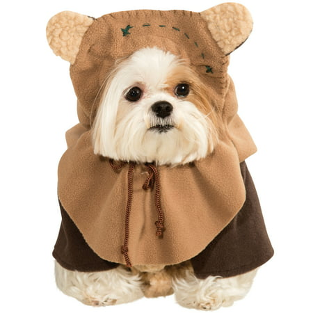 Dog Star Wars Ewok Pet Dress Up Funny Halloween Costume - Funny Last Minute Couples Halloween Costumes